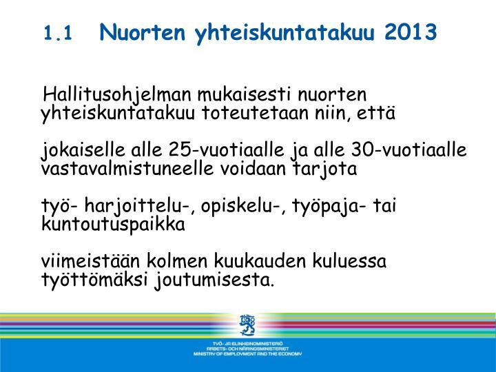 1 1 nuorten yhteiskuntatakuu 2013