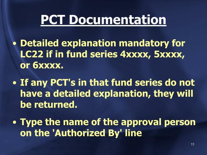 PCT Documentation