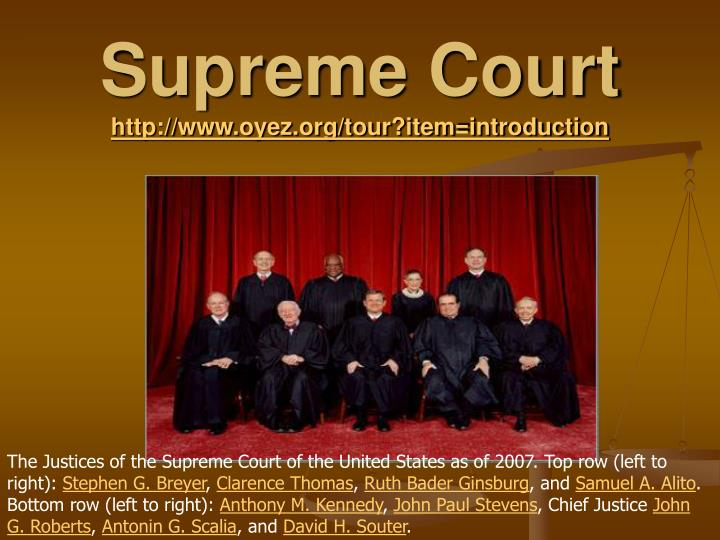 an introduction to the supreme court Introductory film what is the supreme court why was it established in 2009 and what issues does it hear about this introductory film, primarily aimed at gsce.
