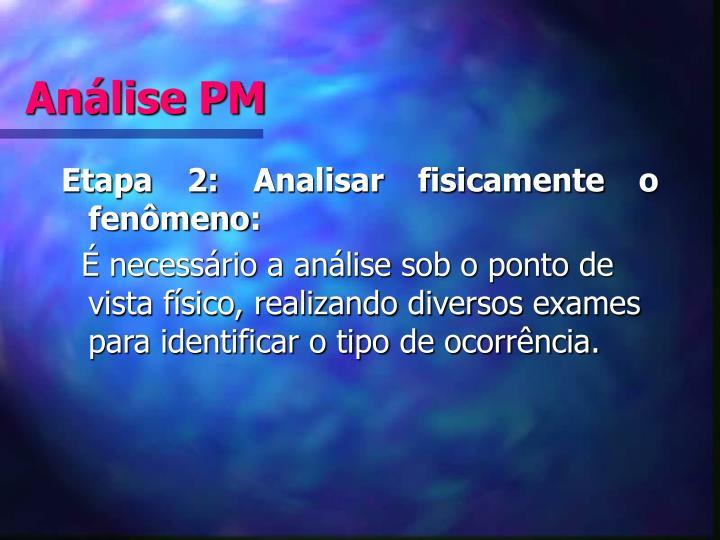 Análise PM