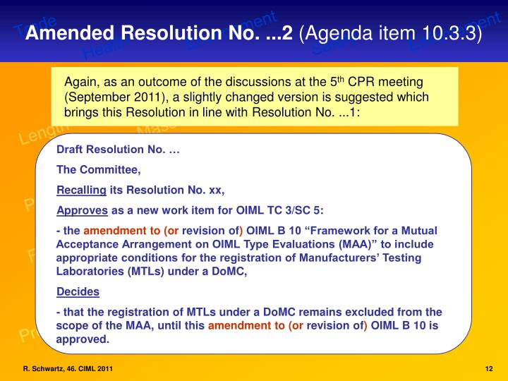 Amended Resolution No. ...2