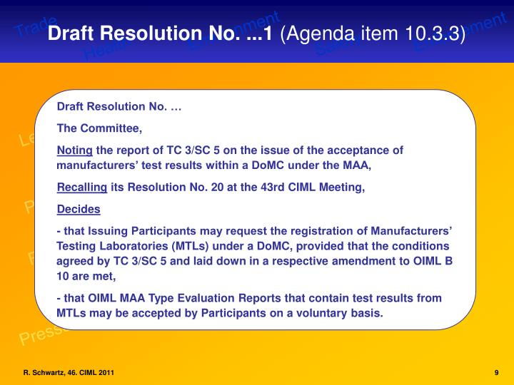 Draft Resolution No. ...1