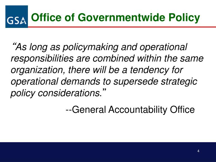 Office of Governmentwide Policy