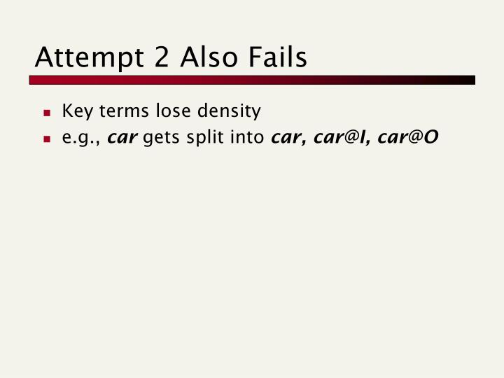 Attempt 2 Also Fails