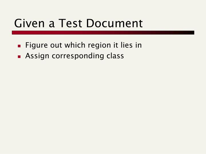 Given a Test Document