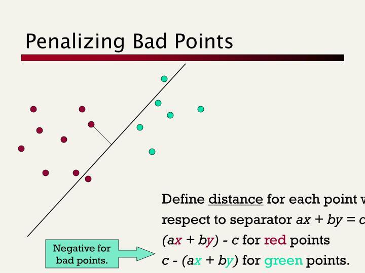 Penalizing Bad Points