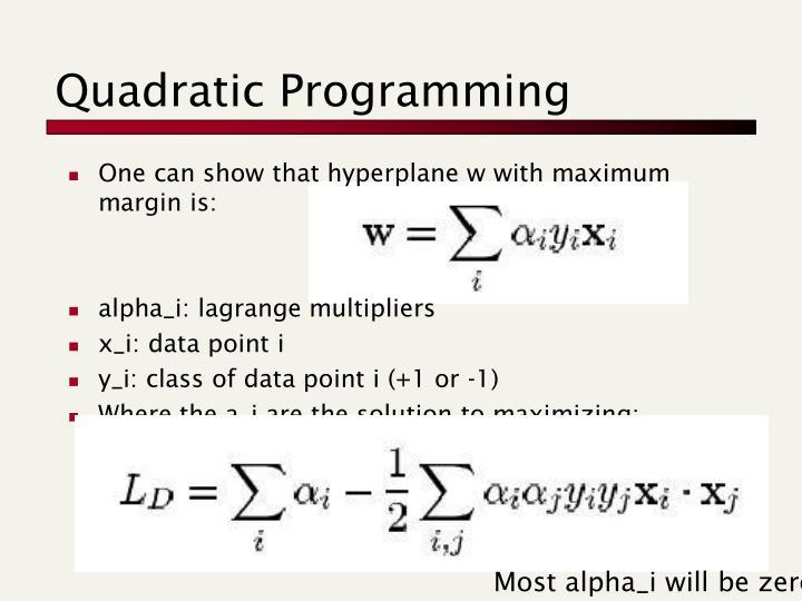 Quadratic Programming