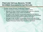 prepare virtual school to be scored documents for return