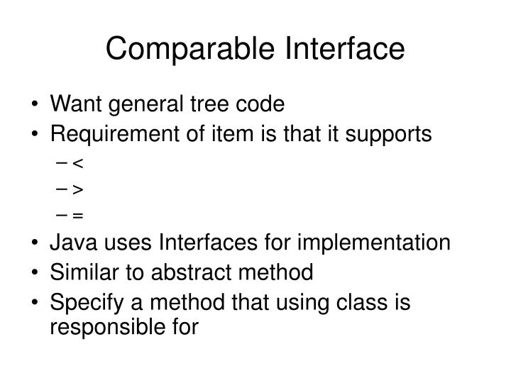 Comparable Interface