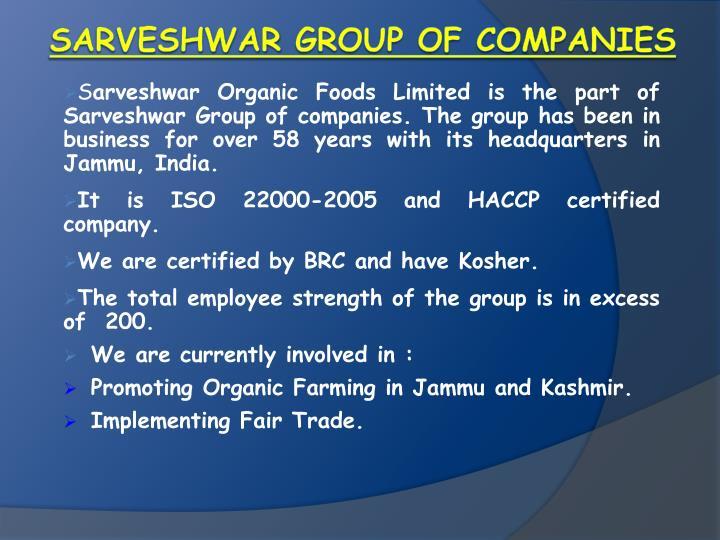 Sarveshwar group of companies