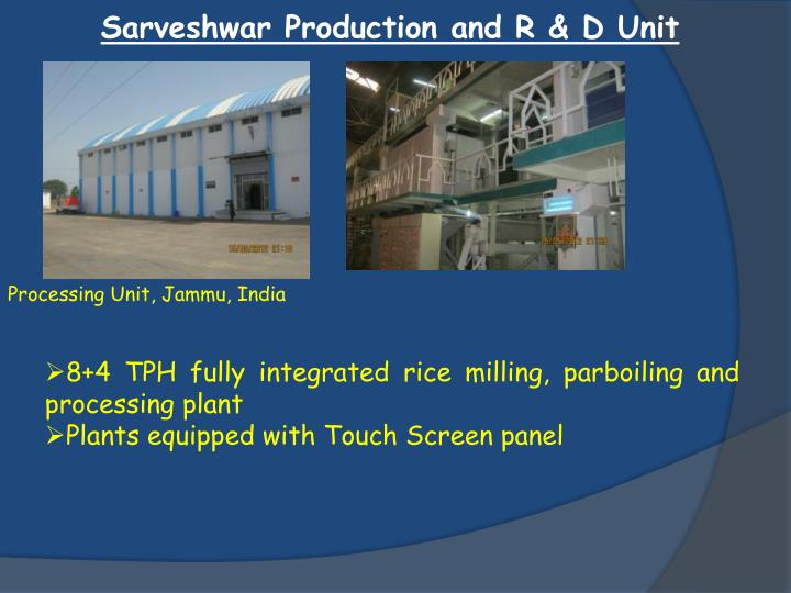 Sarveshwar Production and R & D Unit