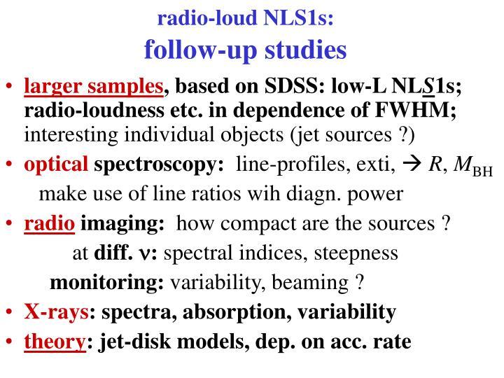radio-loud NLS1s: