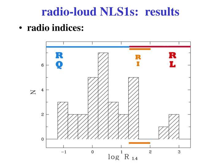 radio-loud NLS1s:  results
