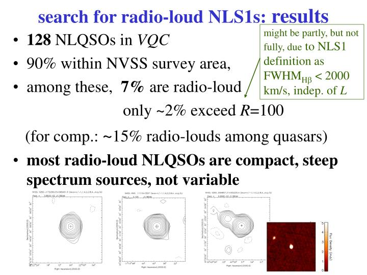 search for radio-loud NLS1s: