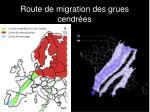 route de migration des grues cendr es