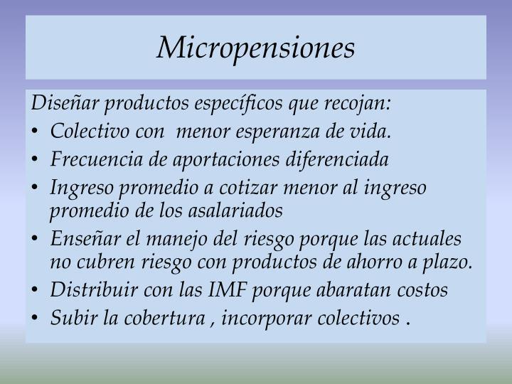 Micropensiones