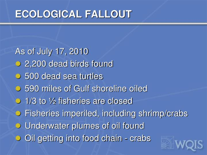 ECOLOGICAL FALLOUT