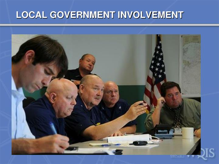 LOCAL GOVERNMENT INVOLVEMENT