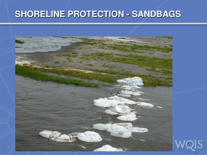 SHORELINE PROTECTION - SANDBAGS