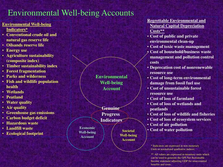 Environmental Well-being Accounts