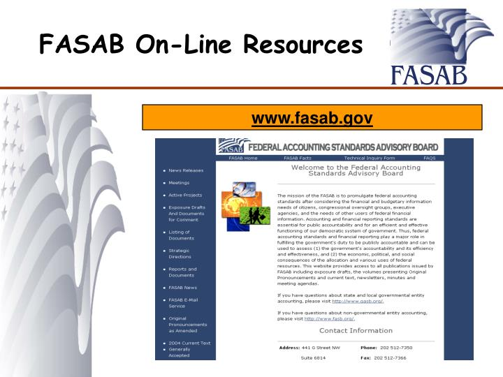 FASAB On-Line Resources