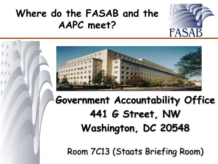 Where do the FASAB and the AAPC meet?