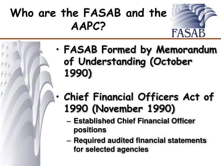 Who are the FASAB and the AAPC?