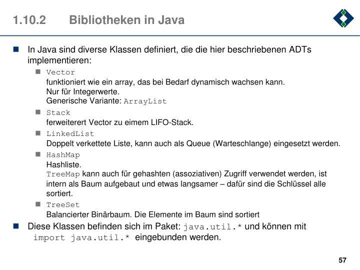 1.10.2Bibliotheken in Java