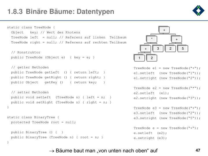 1.8.3Binäre Bäume: Datentypen