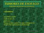 tumores de esofago tumores benigno no epitelial