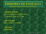 tumores de esofago tumores malignos no epitelial