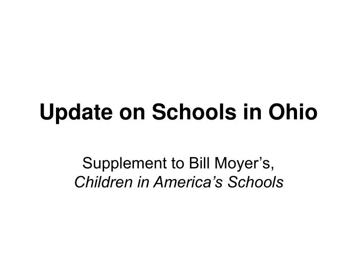 update on schools in ohio n.