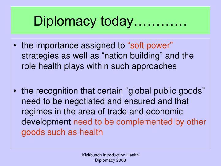 Diplomacy today…………