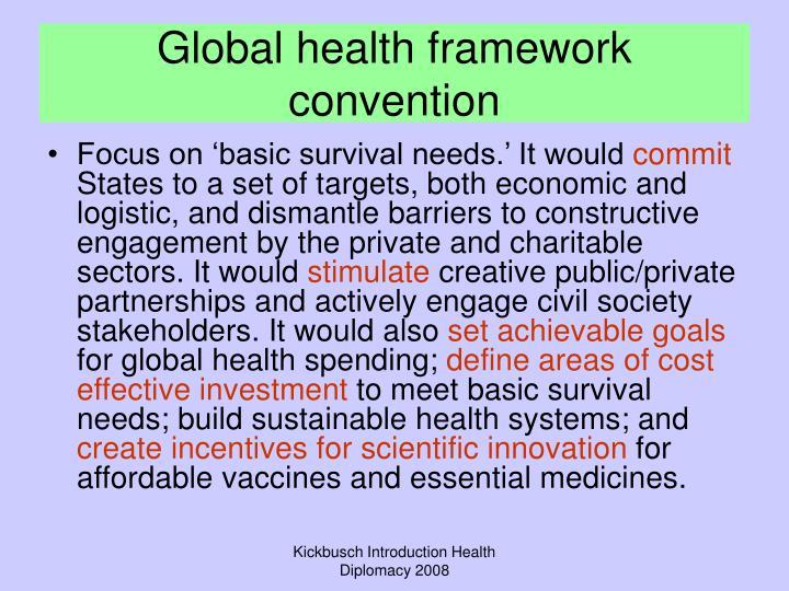 Global health framework convention