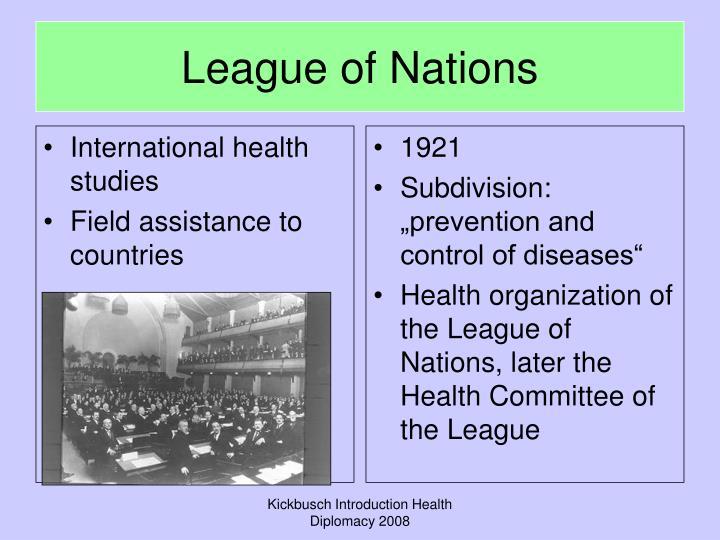 International health studies