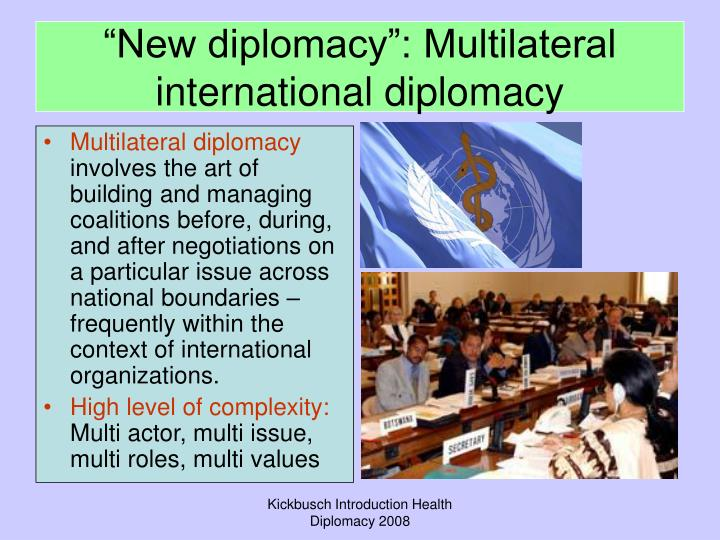 Multilateral diplomacy