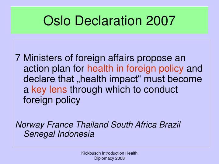 Oslo Declaration 2007