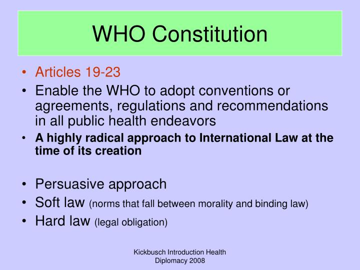 WHO Constitution