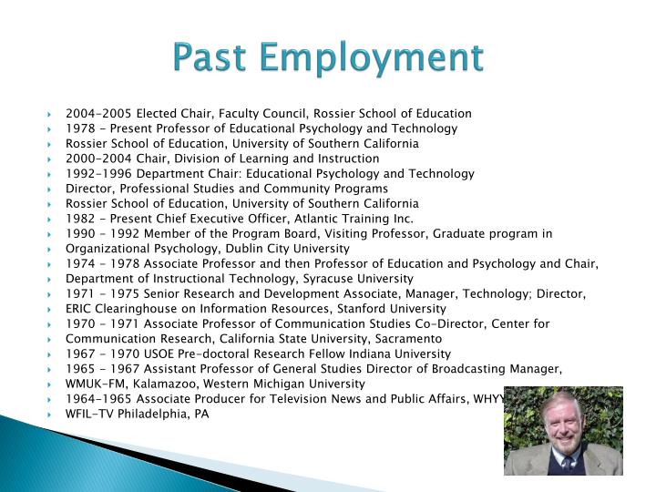 Past Employment