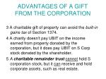 advantages of a gift from the corporation1
