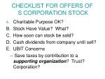 checklist for offers of s corporation stock