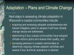 adaptation plans and climate change