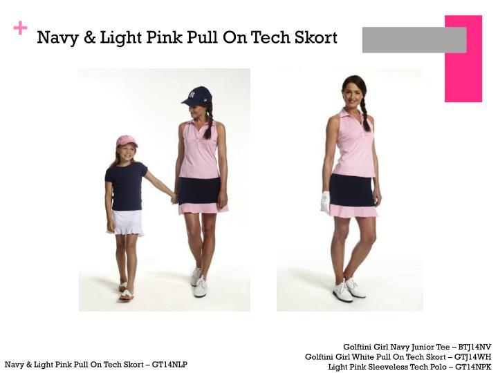 Navy & Light Pink Pull On Tech