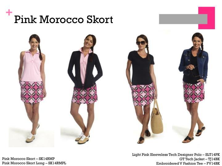 Pink morocco skort