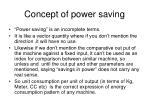 concept of power saving