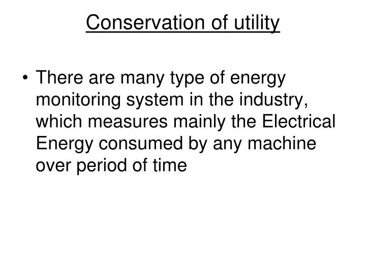 conservation of utility