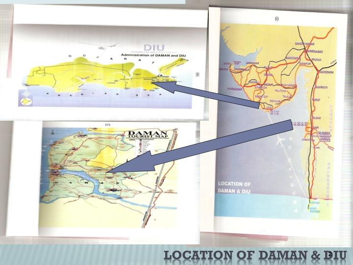 Location of daman diu