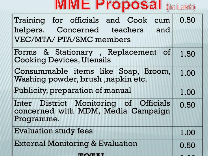 MME Proposal