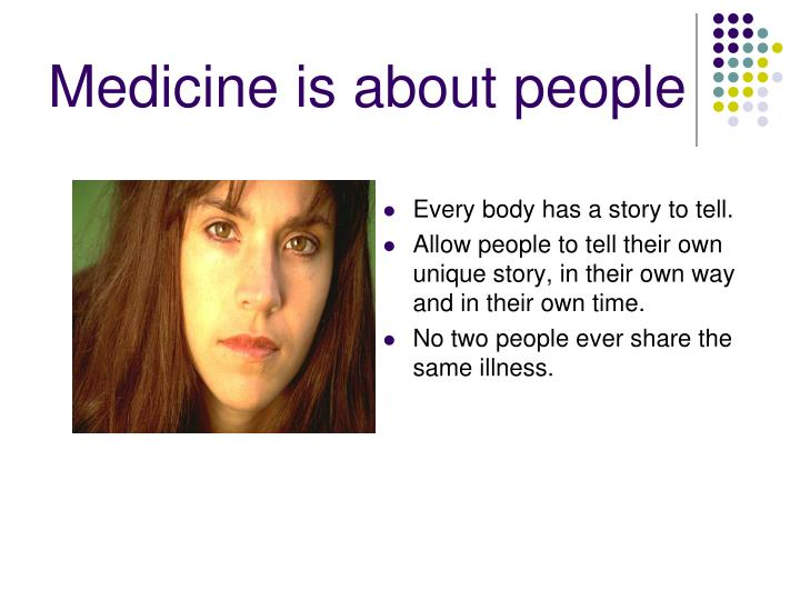 Medicine is about people