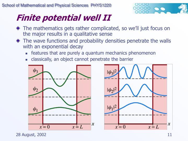 Finite potential well II